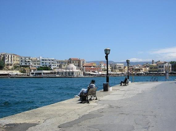 'Chania - harbour' - Hania